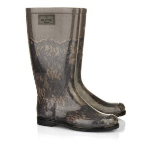 Valentino lace print rain boots - WWKD