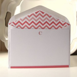 Personalized flat cards with your initial can be multi-purposed into any card you need!