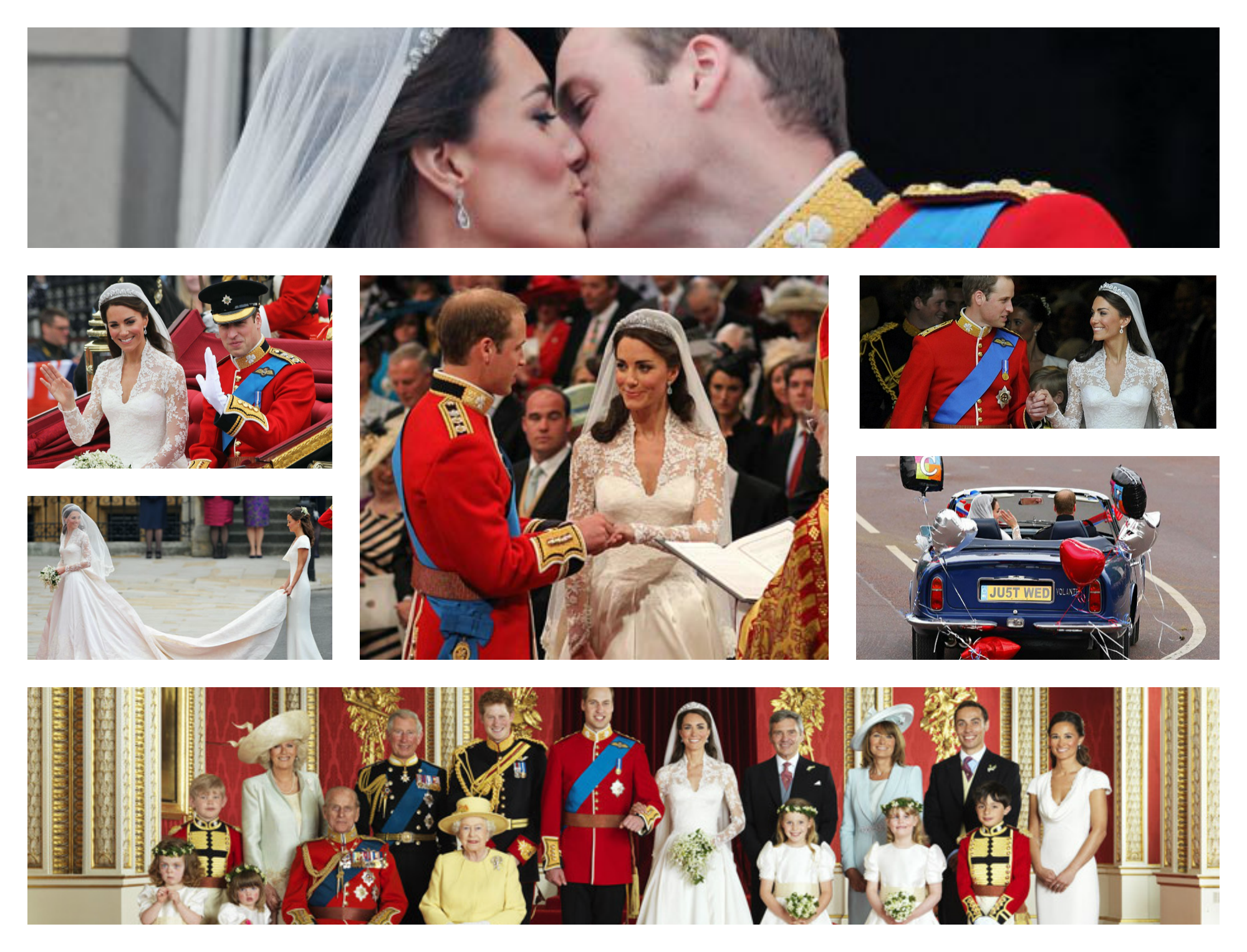 Royal Wedding Collage
