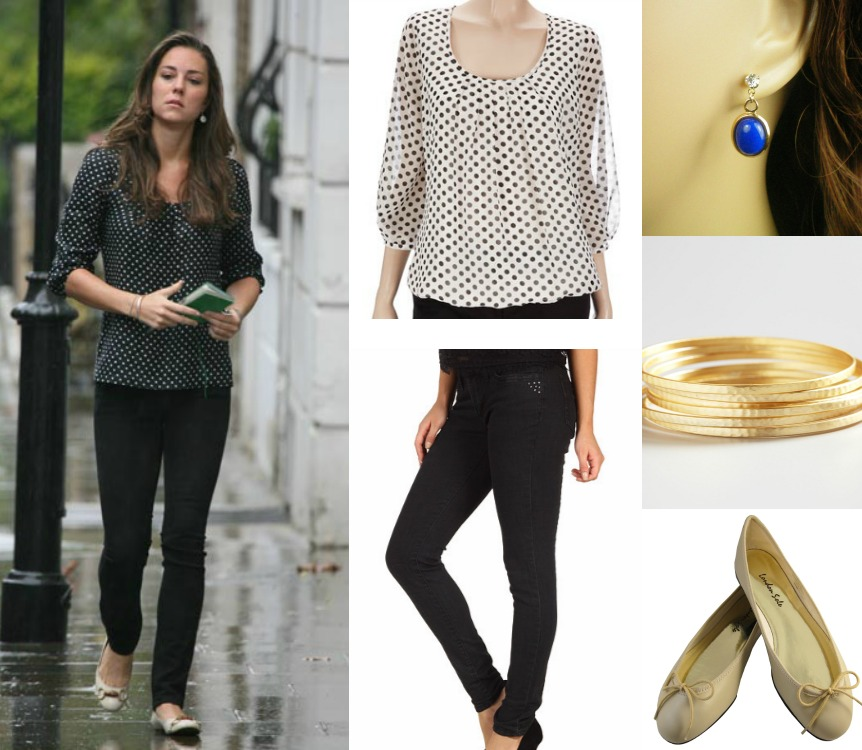 wardrobe wednesday polka dot top