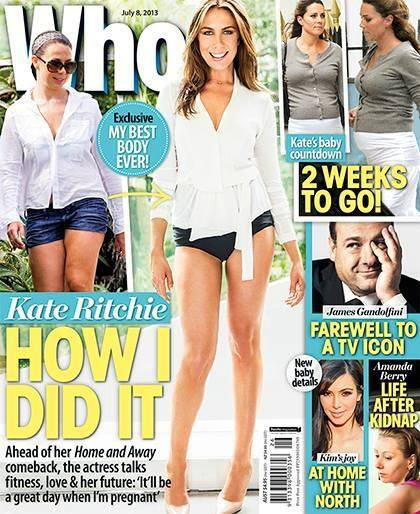 Kate on cover of WHO magazine
