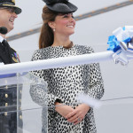 Bold and Beautiful Kate Shines at Ship's Christening