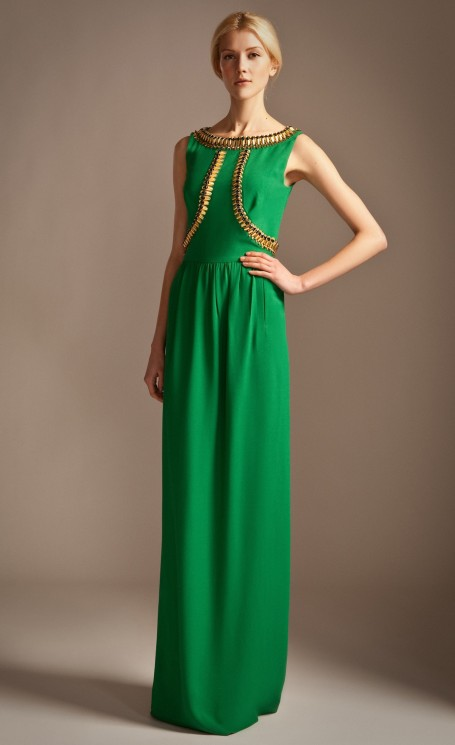 Temperley London Long Goldina Dress