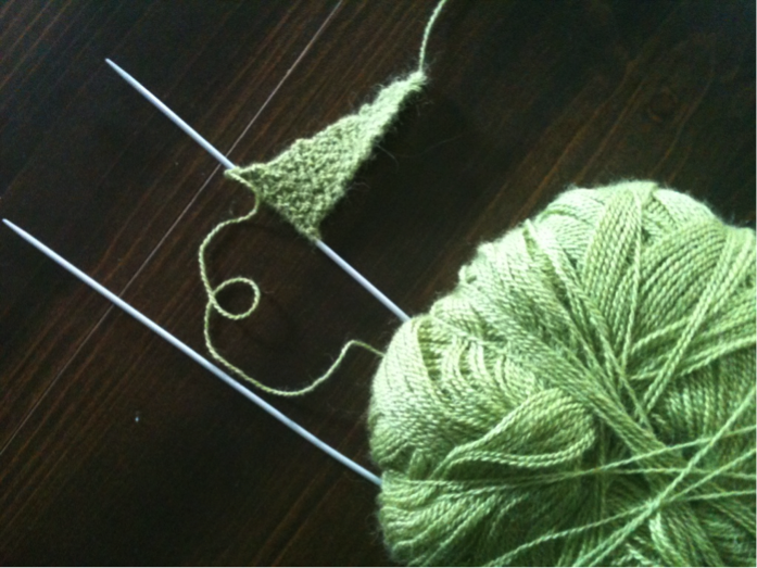 The start of the shawl