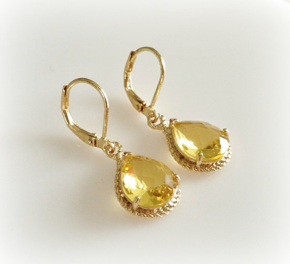 Citrine drops from Tudor Shoppe | $16.00