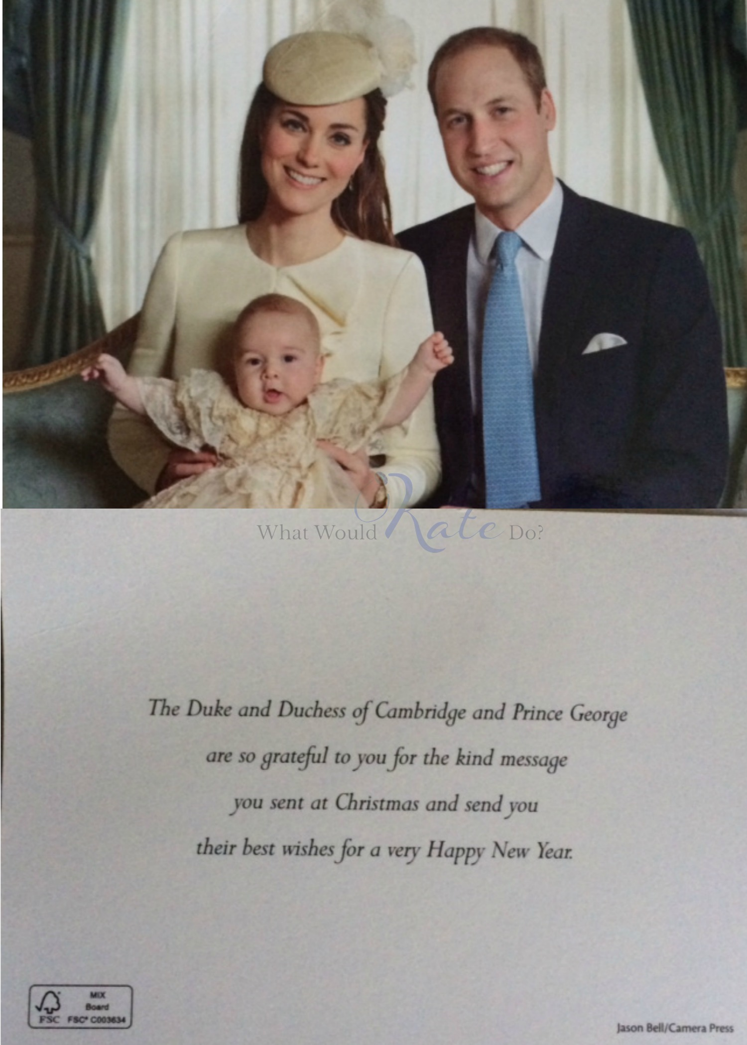 WK Christmas Card 2013 - What Would Kate Do?