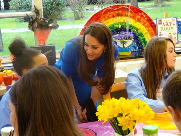 Kate at Northolt High School - via Gordon Rayner