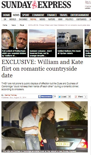 will and kate date night