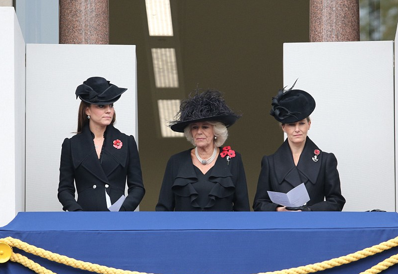 Kate in Alexander McQueen on Remembrance Sunday