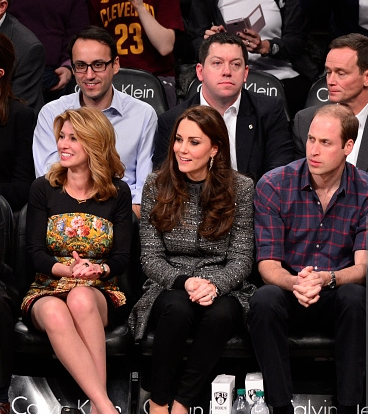 William and Kate NBA Game