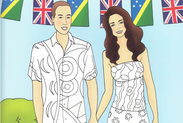 Duke and Duchess of Cambridge coloring pages