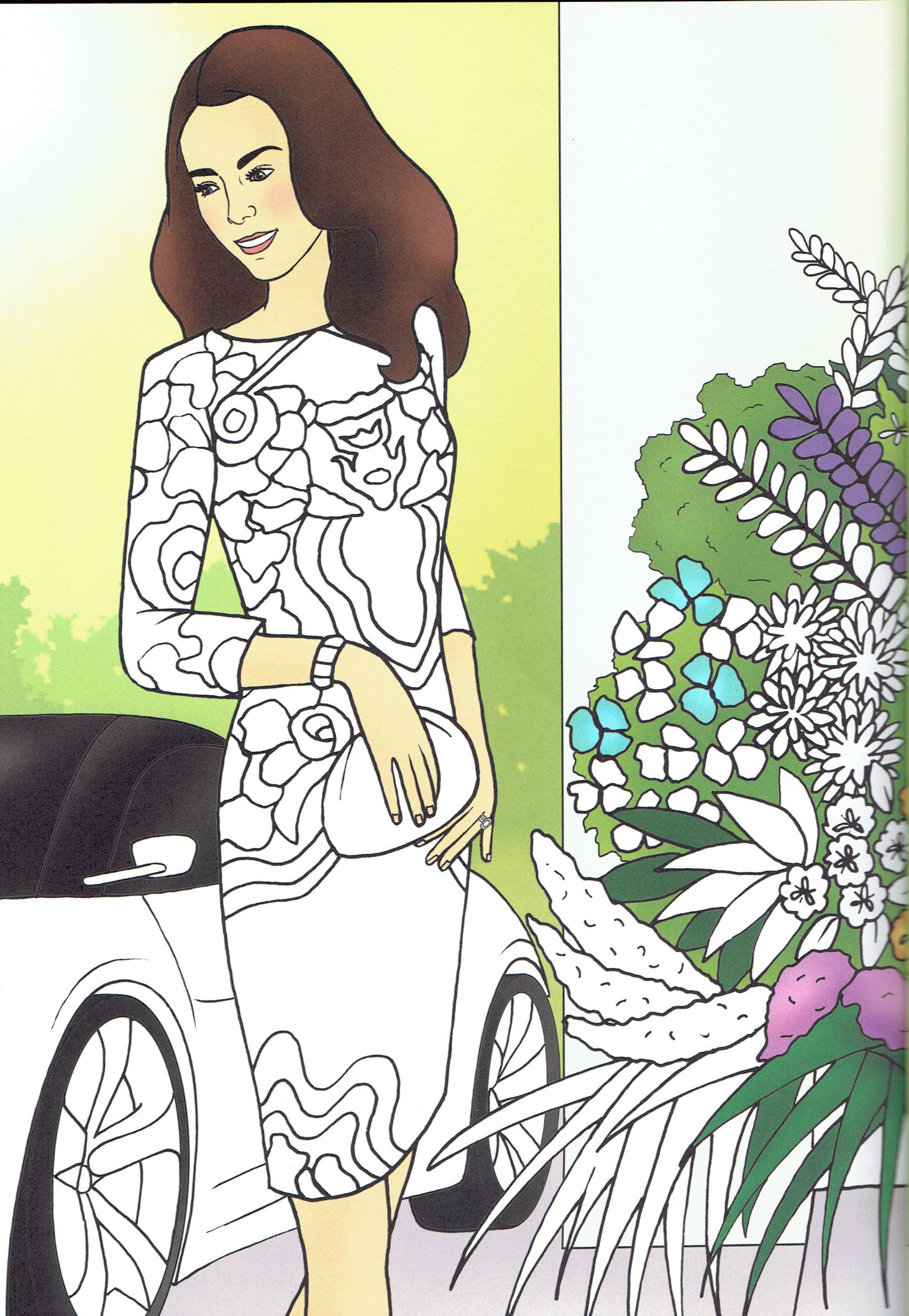 Princess Kate Coloring Pages : Wwkd kate middleton duchess of cambridge colouring pages