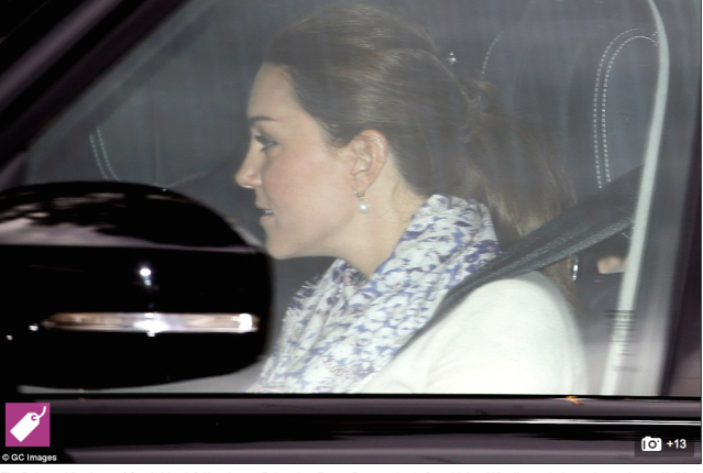 Duchess of Cambridge leaves Kensington Palace with Princess Charlotte