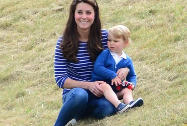 Prince George and the Duchess of Cambridge at Polo