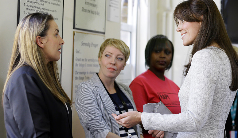 The Duchess of Cambridge visits Her Majesty's Prison Send with RAPt