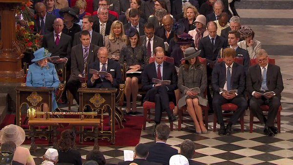 The Royal Family Attends Annual Commonwealth Service at Westminster Abbey