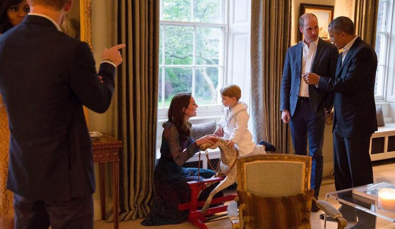 Duchess Kate and Prince William Welcome the Obamas to Dinner