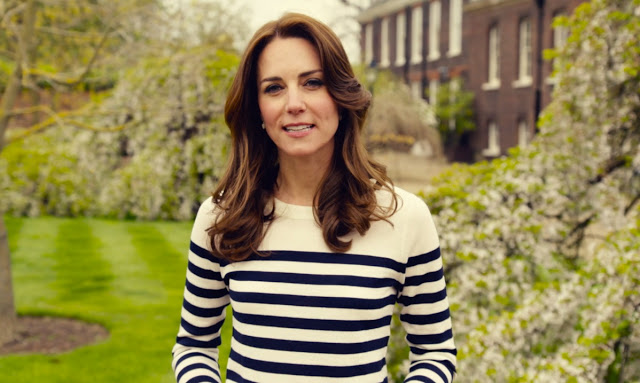 Kate in J.Crew for Heads Together Campaign Video